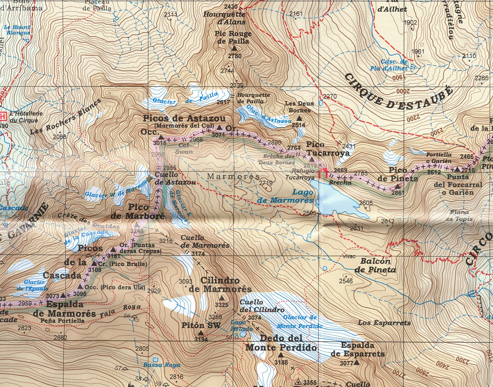 Ordesa y Monte Perdido Parque Nacional España, Pirineos 1:40.000 ...
