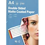 """Supreme Double side matte all Inkjet printer Photo Paper 8.3""""x11.7"""" A4 Size 50 sheets weight 300gsm for All Inkjet Printers"""