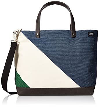 acb4030a9 Amazon.com: Jack Spade Men's Diagonal Dipped Coal Bag, Natural/Navy ...