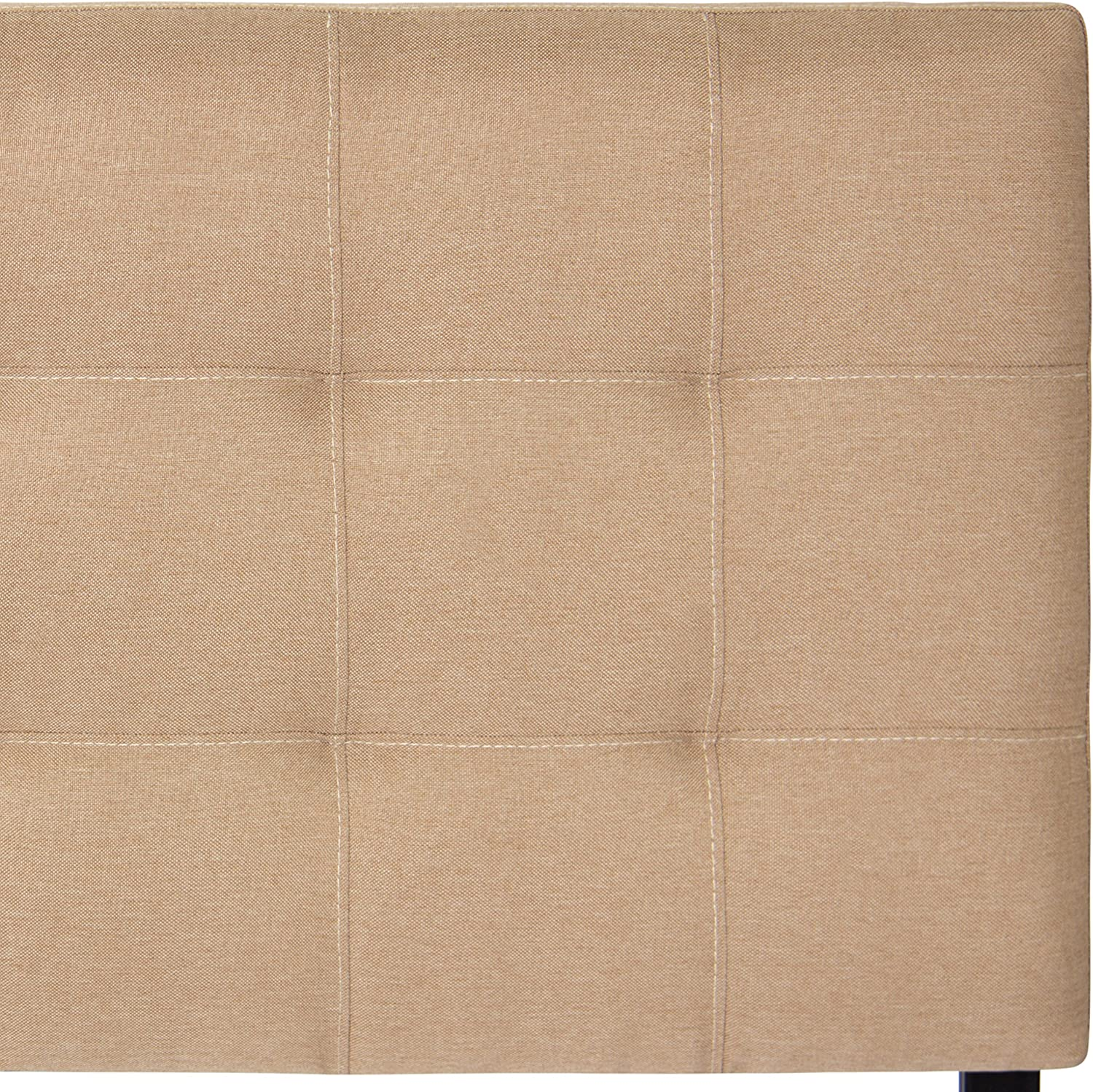 Best Choice Products Upholstered Tufted Fabric Queen Headboard – Beige