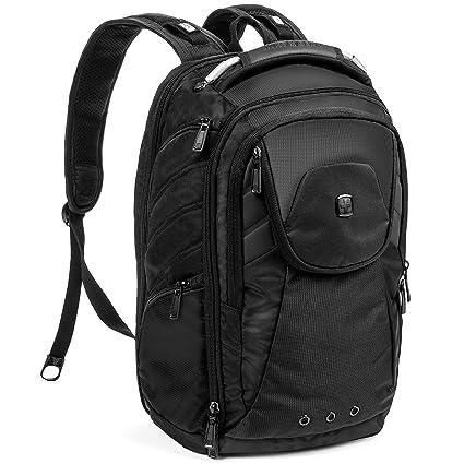 ecd223794faf Swiss Gear scansmart Travel Backpack Monochrome (Black) - Buy Swiss Gear  scansmart Travel Backpack Monochrome (Black) Online at Low Price in India -  Amazon. ...