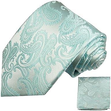 P.M. Krawatten Paul Malone Corbata de seda paisley turquesa ...