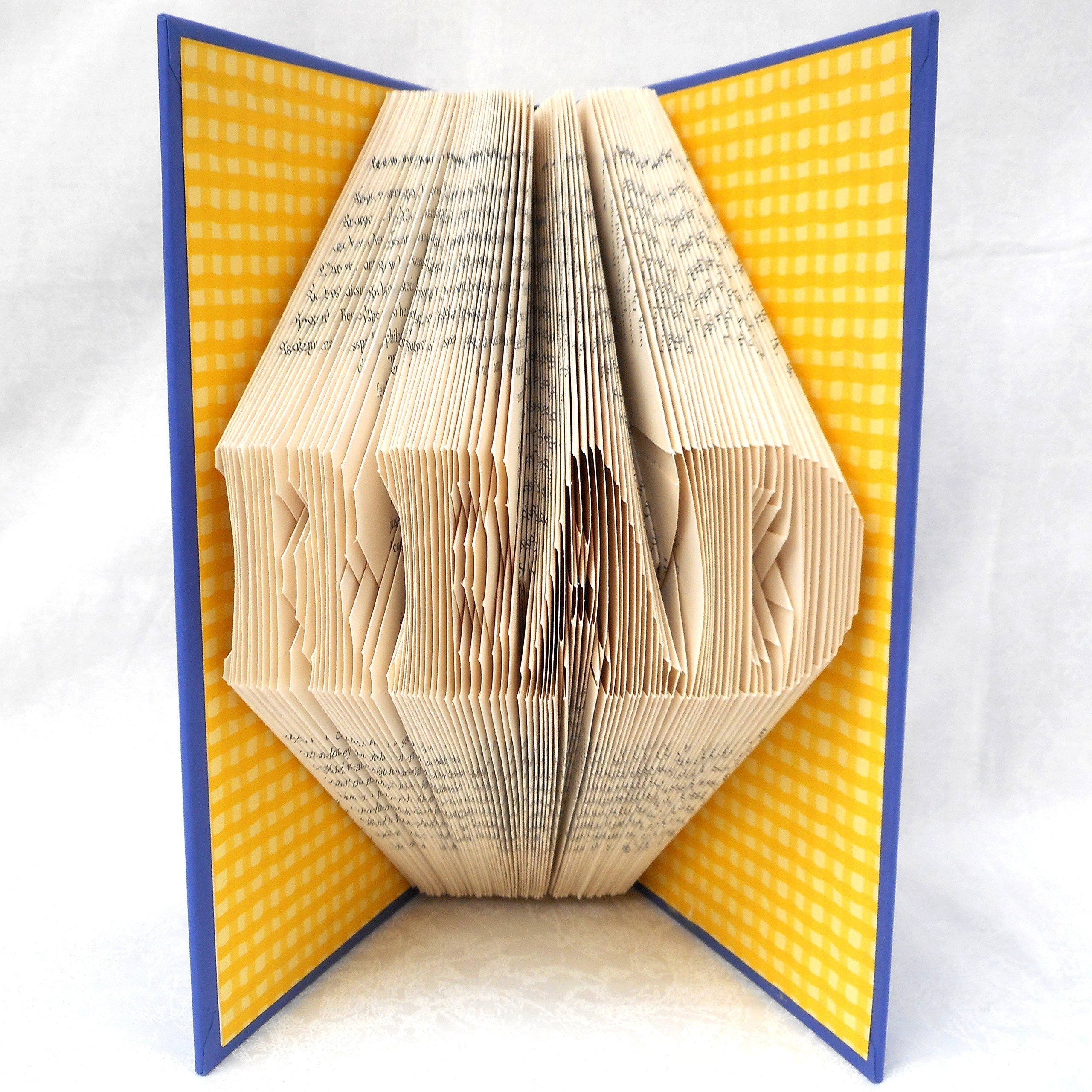 Hand Folded Book Art Sculpture, READ, 1st Paper Anniversary Gift, For Bookworm Librarian Teacher