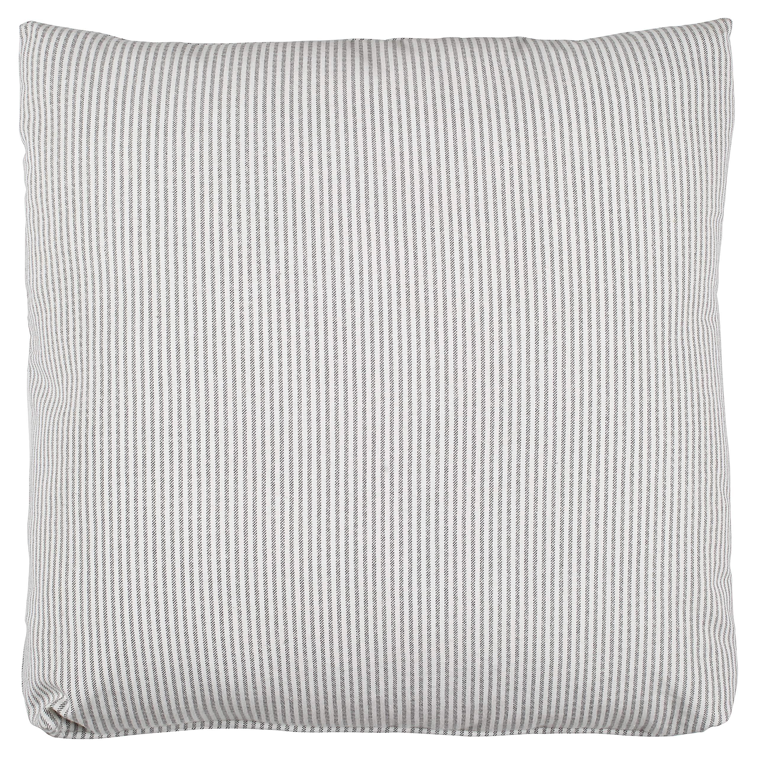 Stone & Beam Farmhouse Thin Stripe Pillow, 19'', Edgar Graphite by Stone & Beam