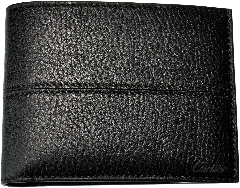 Cartier 【カルティエ】 L3001158 エボニー 二つ折り財布 (小銭入れ無し) セリエ SLG B00D8WUNBI