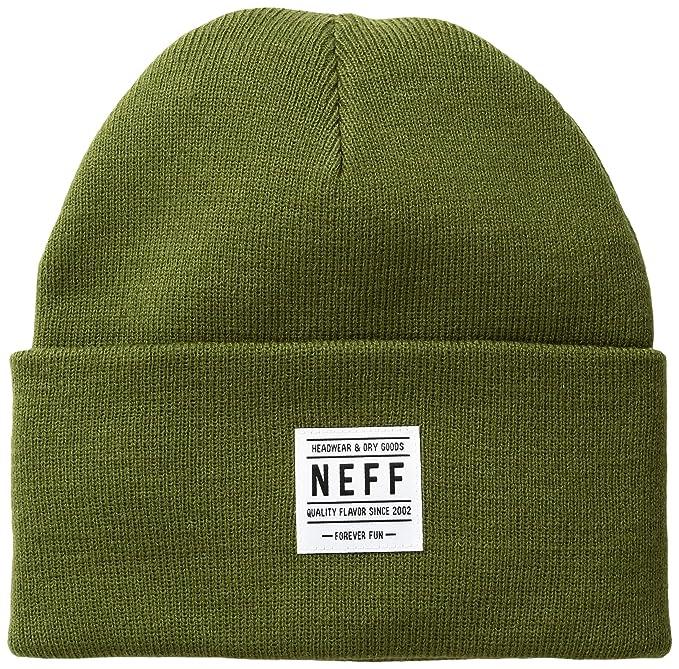 Neff -Gorra de Calavera Hombre Verde Fatigue Talla única