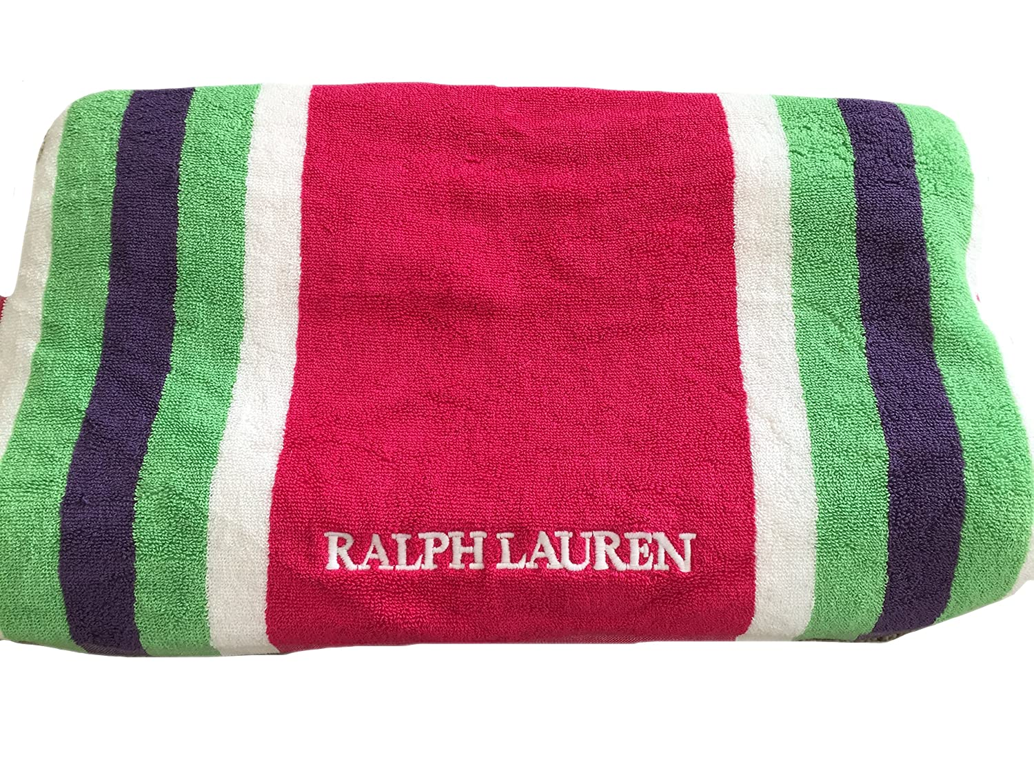 Ralph Lauren harbourview rayas rosa toalla de playa 100% algodón: Amazon.es: Hogar