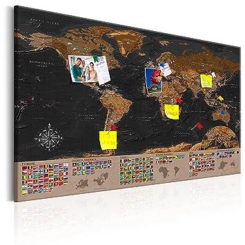 murando   XXL  120x80cm   Carte du monde pour mettre des punaises
