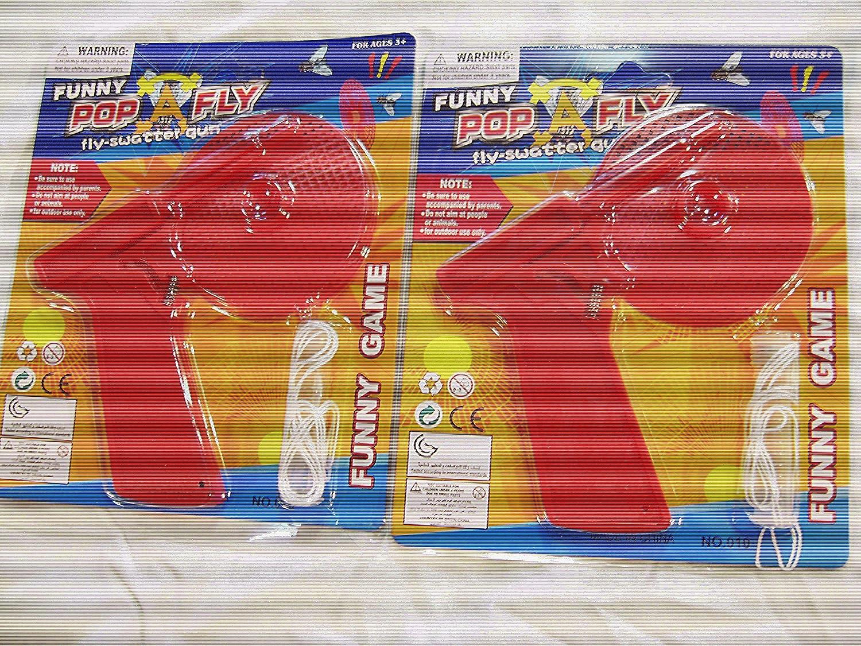 Fltaheroo 1 to 4 Pack Fly Swatter Plastic Pest Killer Bug Eliminator Spider Catcher Shooter A