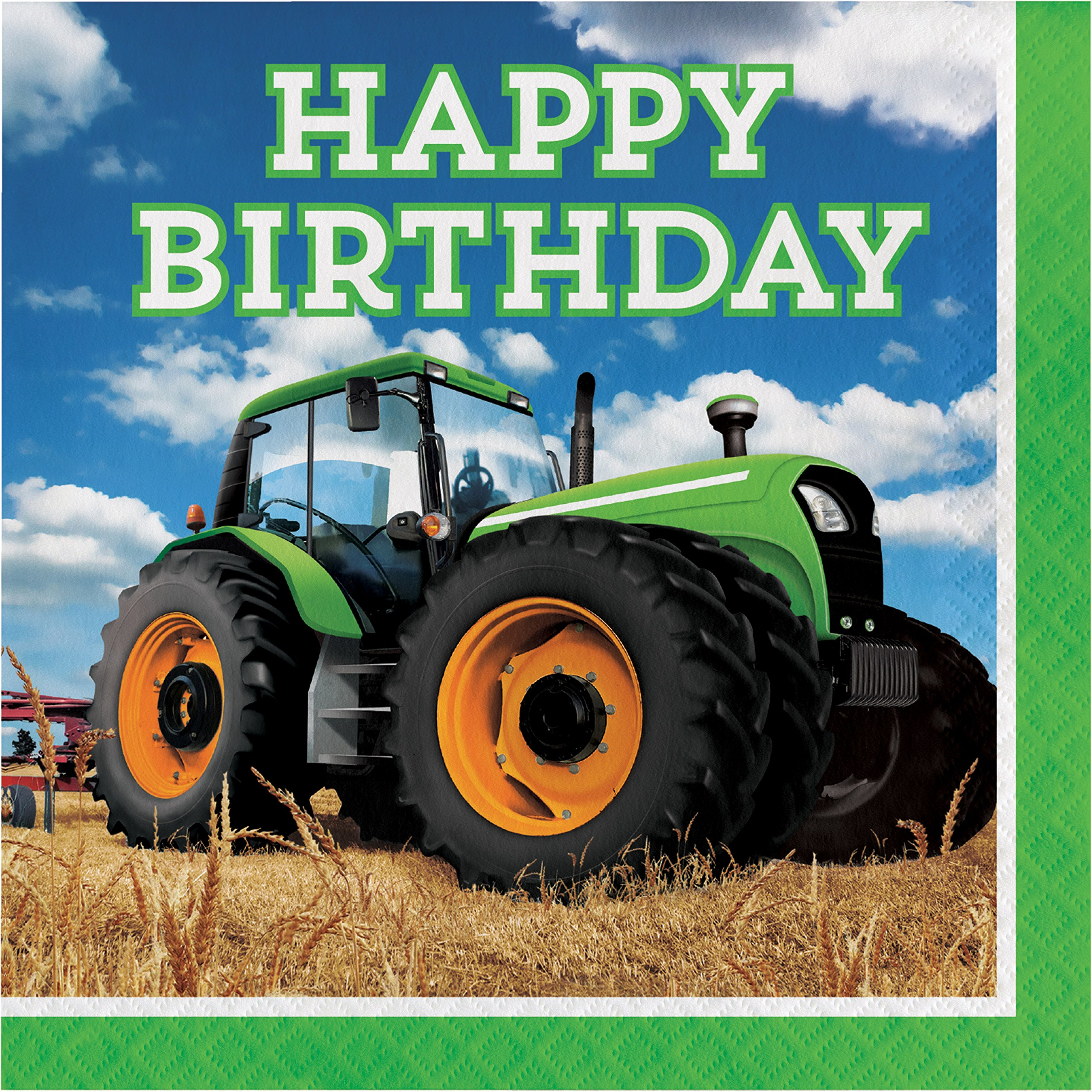 Tractor Time Birthday Napkins, 48 ct by Creative Converting