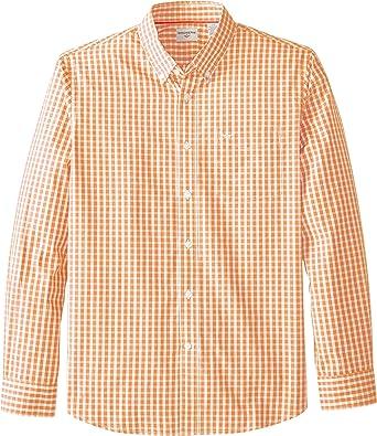 Dockers hombres camisa de manga larga Gingham Button-Front: Amazon.es: Ropa y accesorios