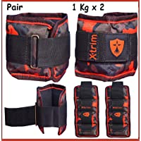 Xtrim Dura-Ankle/Wrist Weights (Set of 2) Iron ore Filling-Comfort Padded -Walking-Jogging-Aerobics-Toning-Cardio-Glutes-Rehabilitation