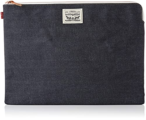 Levis - Denim Tech Case, Carteras Hombre, Azul (Dark Blue), 1x28x38,5 cm (W x HL)