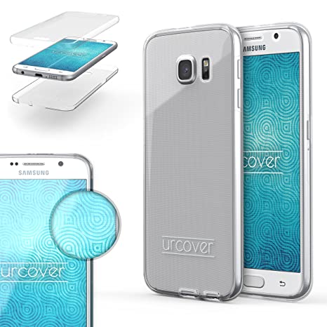 Urcover® Funda Compatible con Samsung Galaxy S6, Carcasa Protectora 360 Grados Silicona Gel en Transparente Full Body Protección Completa ...