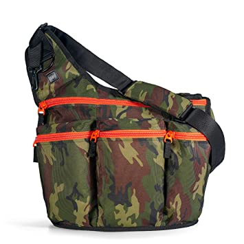 c41d6f0c3279 Diaper Dude Camouflage Diaper Bag with Changing Pad + Cross Body Messenger  Bag for Men: The...
