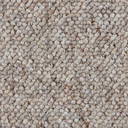 3 x 4 m 400 und 500 cm breit 300 verschiedene L/ängen BODENMEISTER BM72181 Teppichboden Auslegware Meterware Schlinge grau wei/ß 200 Variante: