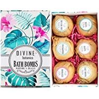 6 XL USA Made Essential Oils Lush Bath Bombs Set - Organic Coconut oil and Shea...