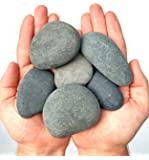 Black Rocks - Model # BT106 - 2 LBS of Painting Rocks ( About 5 to 7 rocks per set ) - Assorted Size and Shape Stones ( stones can range from 1.5 to 3.5 inches ) - product of Beach Treasures