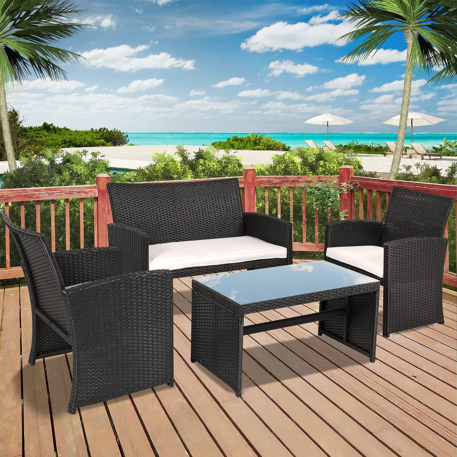 Amazon Best Choice Products Outdoor Garden Patio 4pc