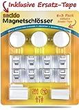 Secido Unsichtbare Kindersicherung Magnetschloss für Schrank und Schubladen, Montage ohne Schrauben, Baby Schranksicherung Schubladensicherung mit Magnet