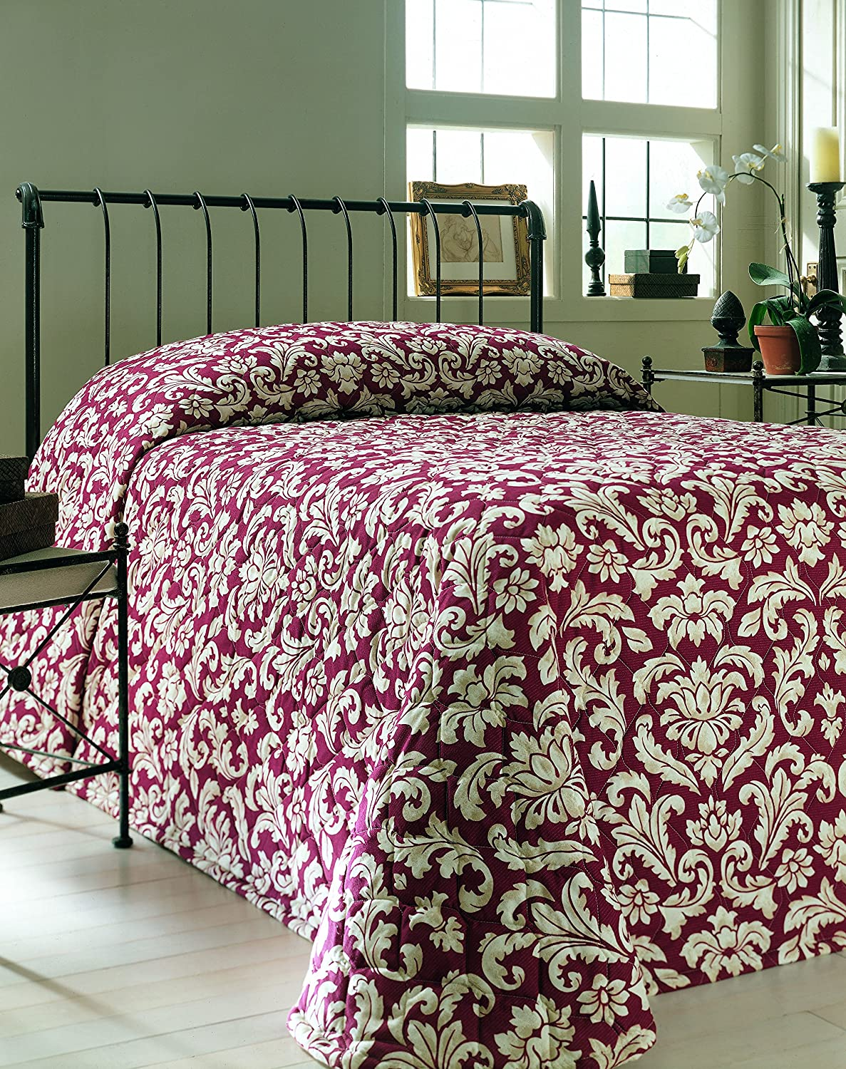 Martex 1C75892 Bedspread 71-Inch x 102-Inch Twin Fitted Vienna Chianti 1-Pack WestPoint Home
