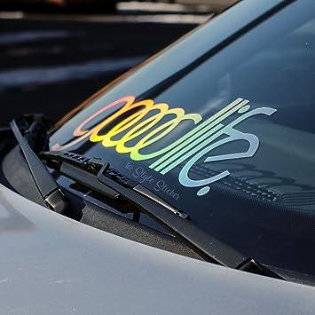Auto Goodlife Oilslick Frontscheiben Aufkleber Auto Sticker Farbwechsel Hologramm Glitzer Autoaufkleber Tuningsticker Mit Bunter Folie