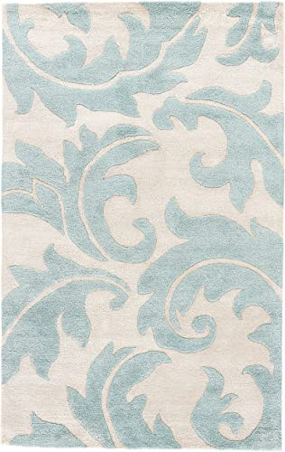 Jaipur Living Aloha Hand-Tufted Damask White Area Rug 2 X 3