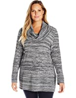 Heather B Women's Plus-Size Cowl-Neck Tunic A-Line Sweater at ...