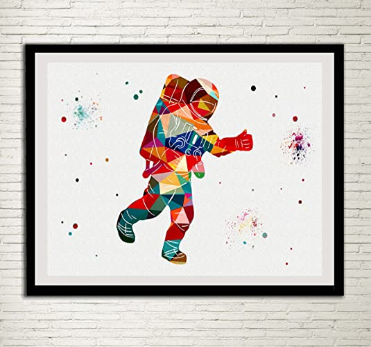 f0e1a374279 Image Unavailable. Image not available for. Color  Astronaut Watercolor  Posters Art Prints Wall Decor Artworks Wall Art Dining Room Art Wall  Hanging Kitchen