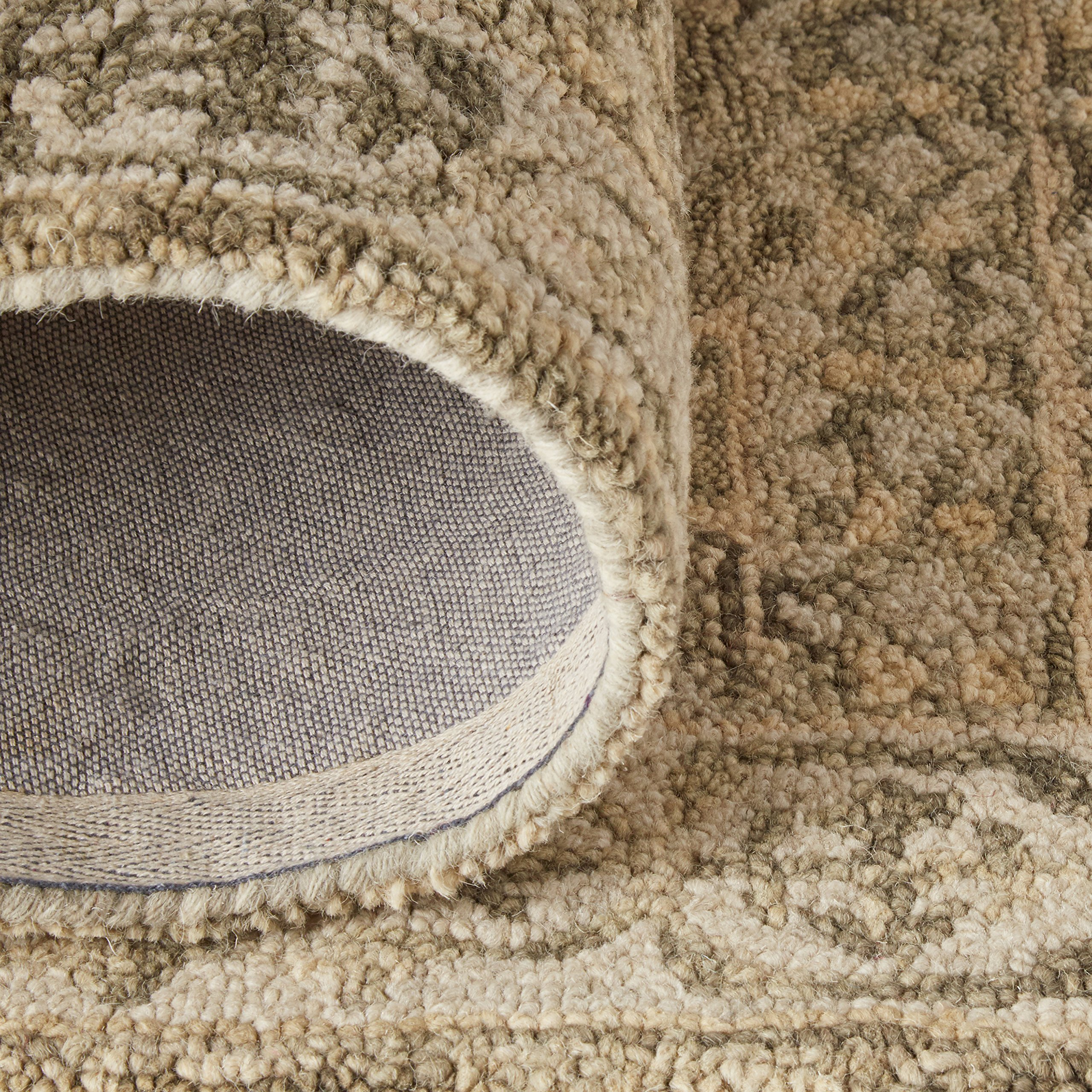Stone & Beam Kelsea Transitional Wool Area Rug, 8' x 10', Beige and Grey by Stone & Beam (Image #6)