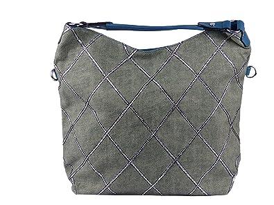 b770a5b537647 Leinentasche mit Rautenmuster Silber used look Vintage Style - Maße ohne  Henkel 47 x 36 x
