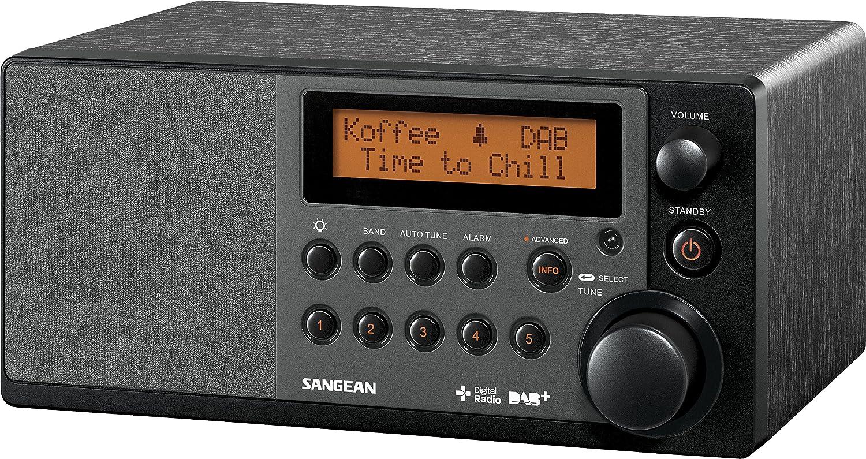 Sangean DDR-31 Tischradio mit Bluetooth schwarz Aux-in Digital Radio DAB+ und FM