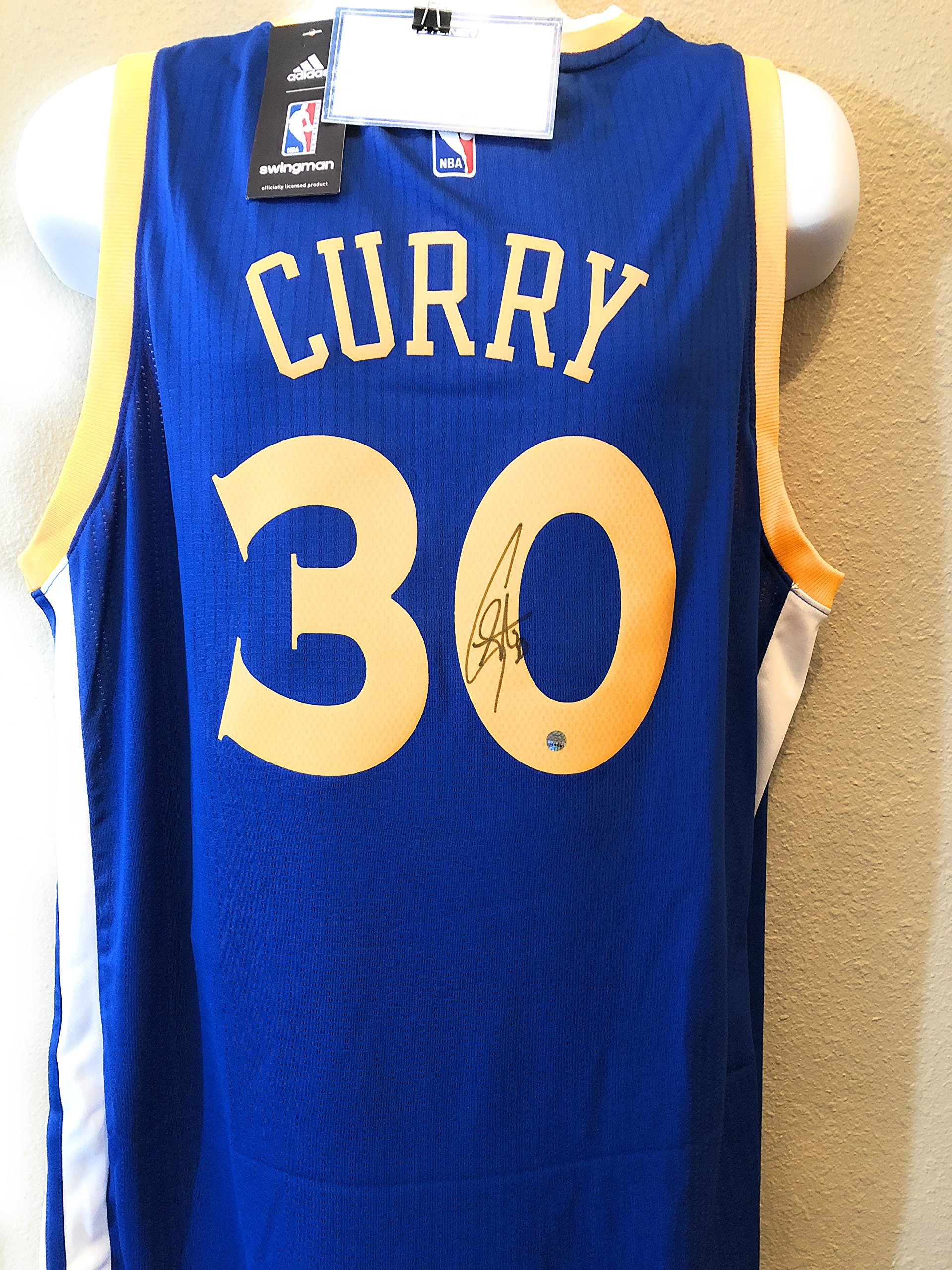 Stephen Curry Steph Golden State Warriors Signed Autograph Swingman Jersey Steiner Sports Certified