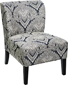 Red Hook Martina Contemporary Upholstered Armless Accent Chair - Frozen