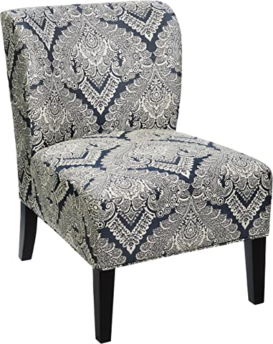 Signature Design by Ashley – Honnally Accent Chair – Contemporary Style – Sapphire Medallion Pattern