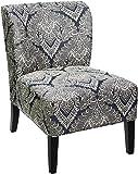 Amazon Com Linon Coco Accent Chair Gray Damask Kitchen