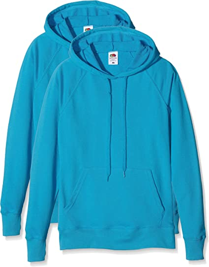 TALLA XS. Fruit of the Loom Ladies Lightweight Hooded Sweat Sudadera para Mujer