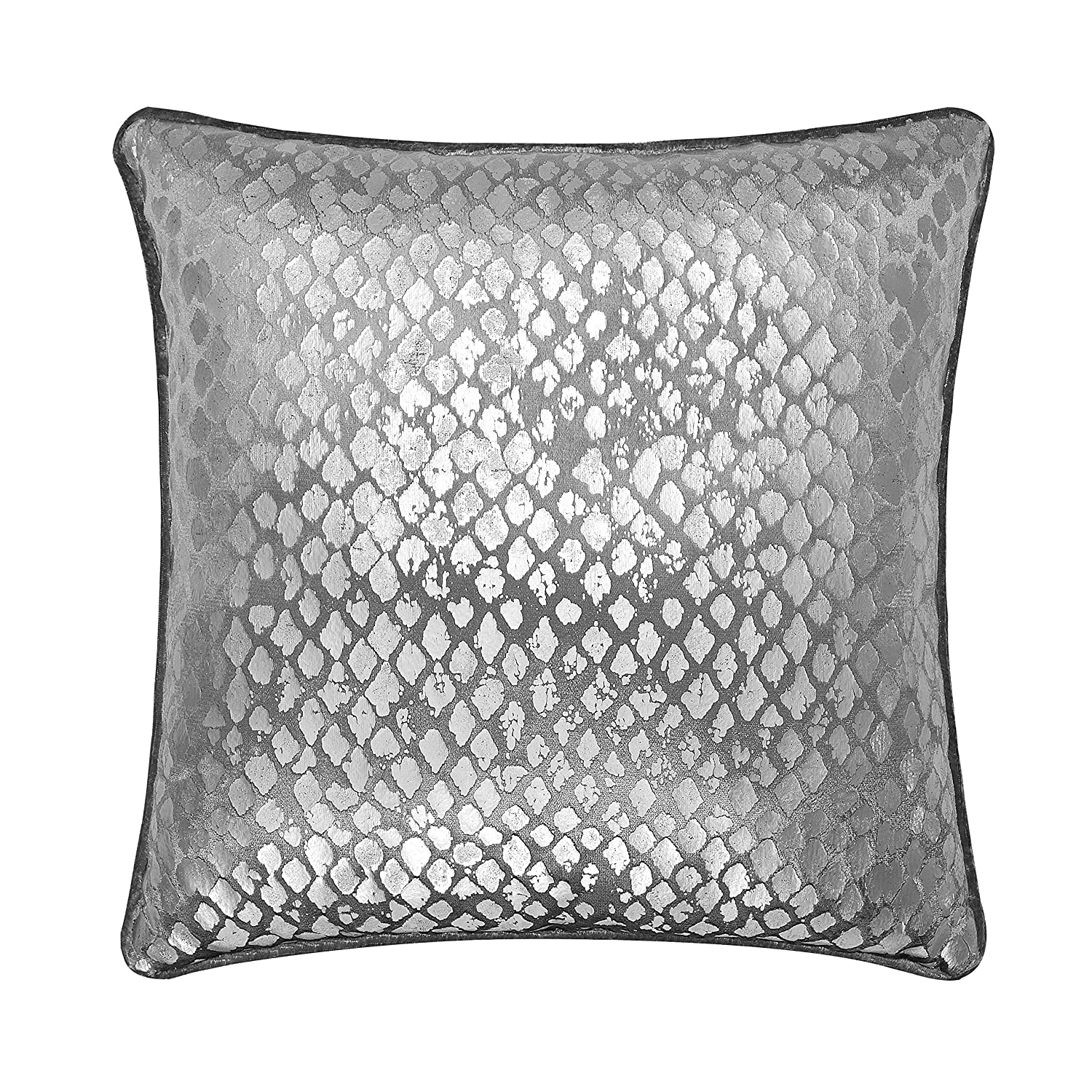 Casa Metallic Geo Dec Pillow Square Silver