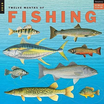 Fishing Calendar January 2019 Amazon.: Twelve Months of Fishing Wall Calendar 2019 Monthly