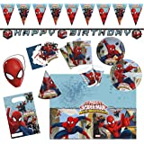 Procos 10108574B - Set di accessori per feste dei bambini, motivo Ultimate Spiderman - Web Warriors, misura XL, 72 pz