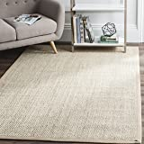 Safavieh Natural Fiber Collection NF143B Marble and Linen Sisal Area Rug (8' x 10')