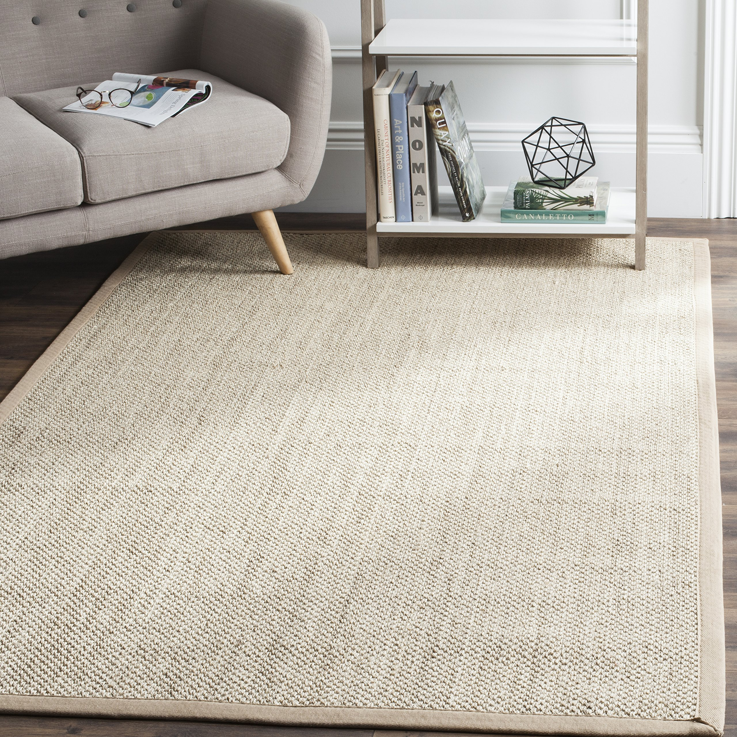Safavieh Natural Fiber Collection NF143B Marble and Linen Sisal Area Rug (8' x 10') by Safavieh