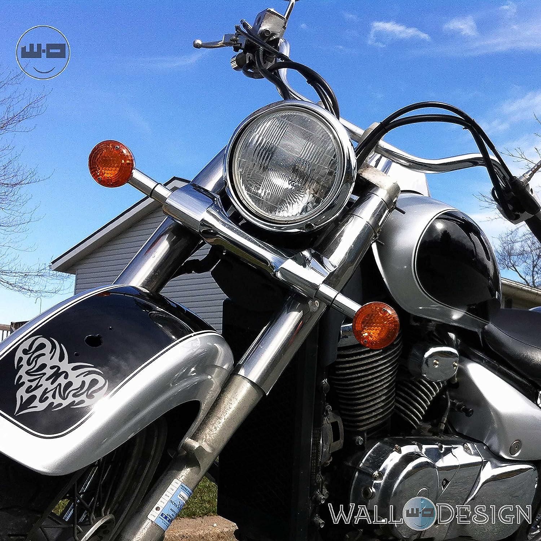 Walldesign motorcycle sticker design pump my heart silver colour reflective vinyl amazon in car motorbike