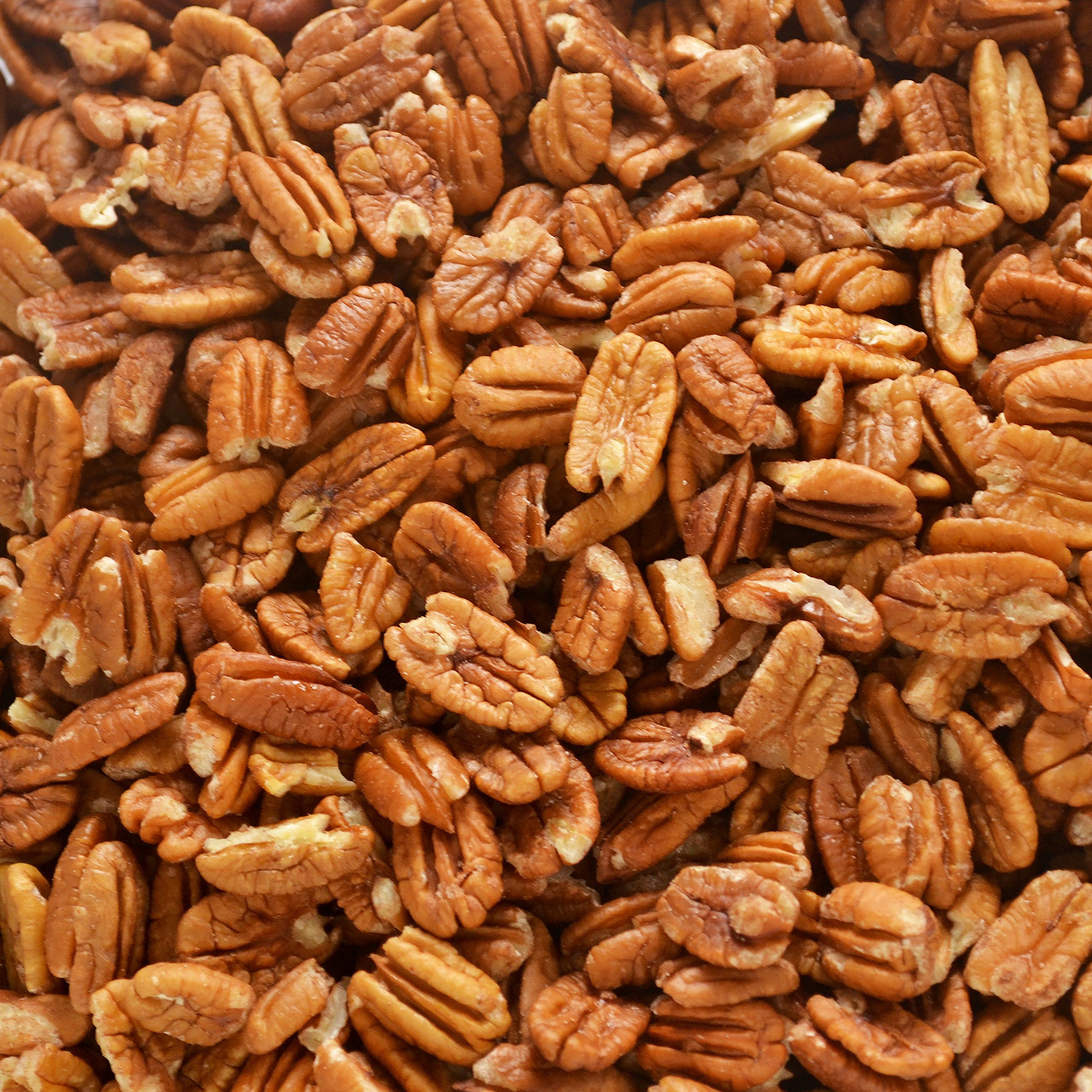 Fresh Shelled Texas Native Pecan Halves - Certified Pesticide-free and Wild-harvested, Bulk 30 Lb. by PecanShop.com
