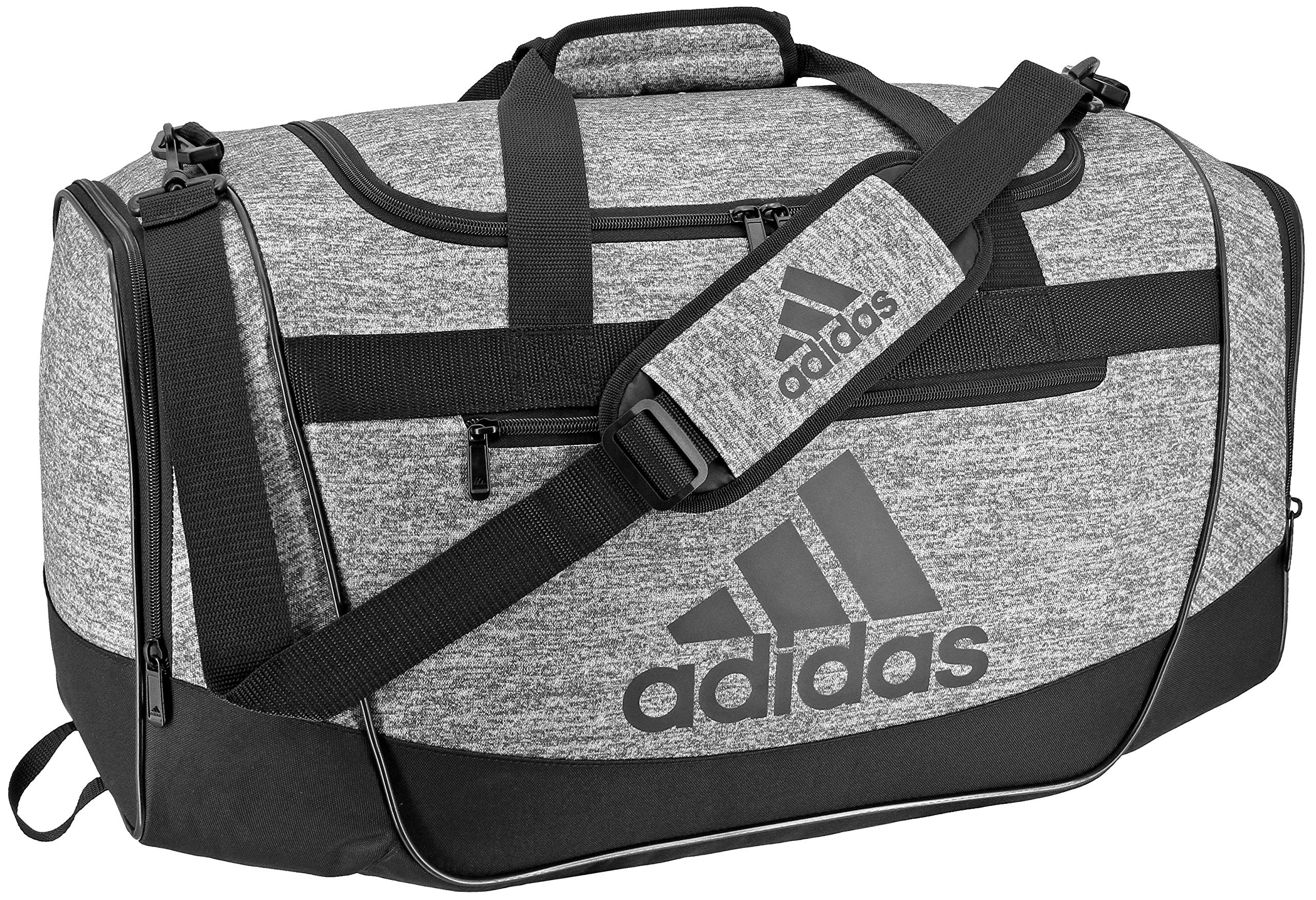 adidas Defender III medium duffel Bag, Onix Jersey/Black, One Size by adidas