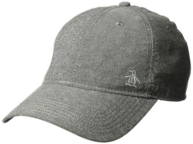 Amazon.com  Original Penguin Men s Chambray Baseball Cap 4e415bf36d7c