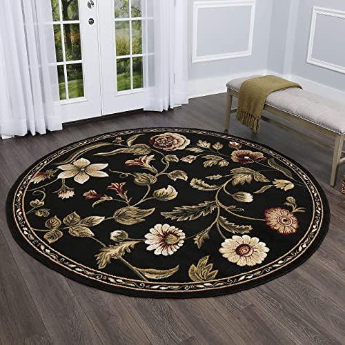 Home Dynamix Optimum Amell Area Rug 7'10″ Round Traditional Area Rug