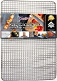 Kitchenatics Professional Grade Stainless Steel Cooling and Roasting Rack Wire Fits Half Sheet Baking Pan for Cookies, Cakes Oven-Safe for Cooking, Smoking, Grilling, BBQ - Heavy Duty Rust-Resistant