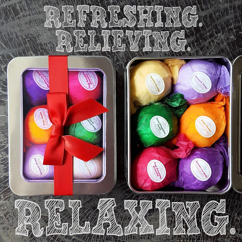 amazon com bath bomb gift set kit 6 vegan all natural