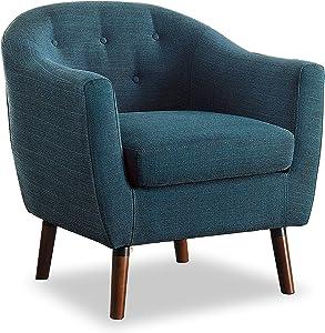 Homelegance Fabric Barrel Chair,